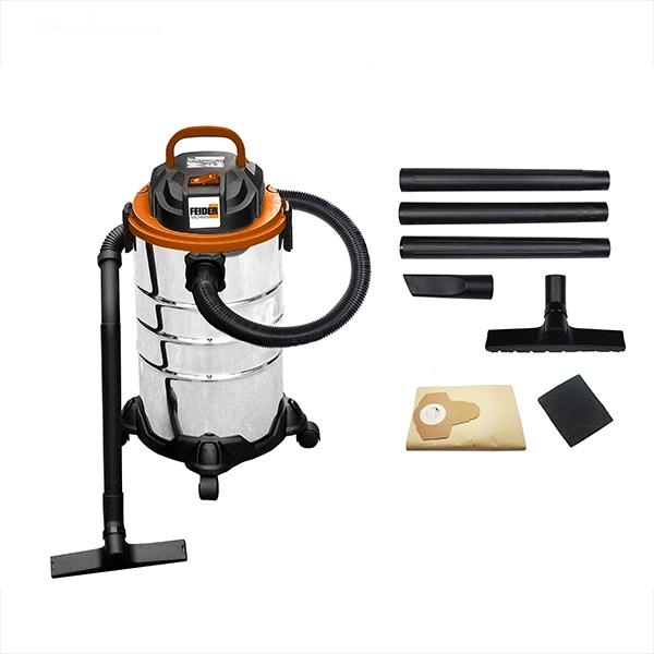 Aspirateur eau et poussière  1250 W 30 L - Cuve Inox FHAEP125030L - SWAP-europe.com