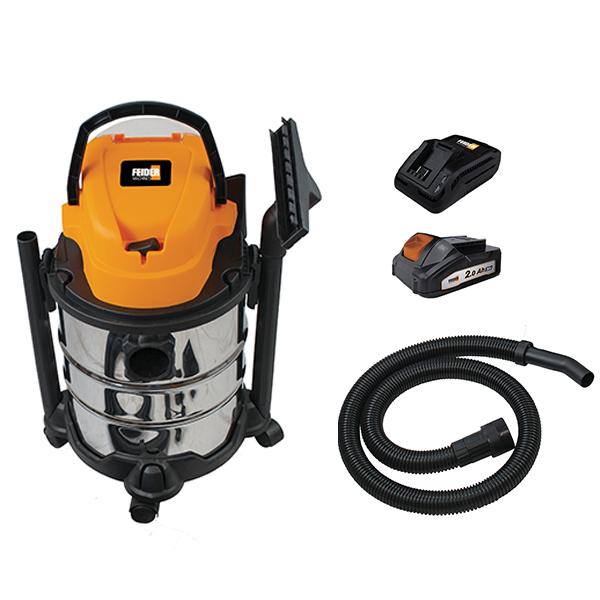 Aspirateur eau et poussière sans fil - Cuve Inox 20 L FHAEP20V20 - SWAP-europe.com