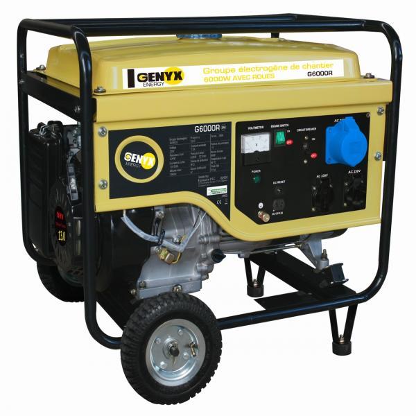 Open frame petrol generator G6000R - SWAP-europe.com
