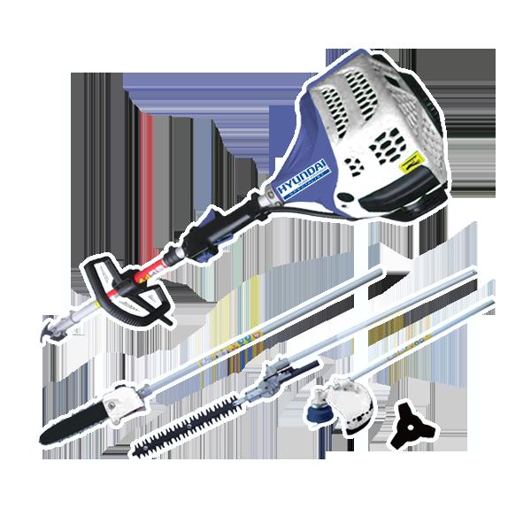 Petrol multi-tool 42.7 cm³ - 4 in 1 HCOMBI43SP - SWAP-europe.com
