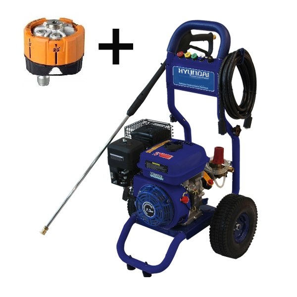 Petrol high pressure washer 7 hp 210 bar 545 L/h HNHPT210B - SWAP-europe.com