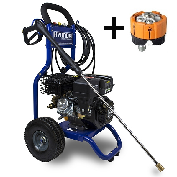 Petrol high pressure washer 7 hp 220 bar 546 L/h HNHPT220B - SWAP-europe.com