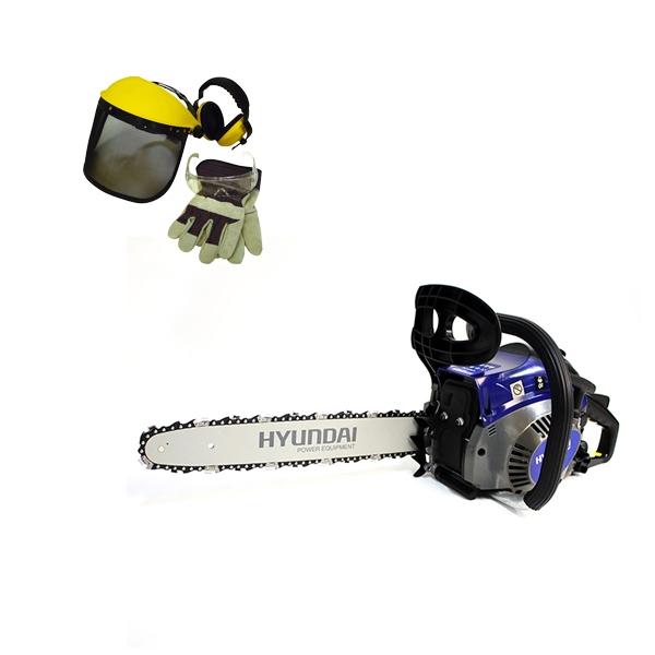 Petrol chainsaw 40 cm³ 40 cm - Guide and chain Hyundai - recoil start  HTR40ACC - SWAP-europe.com