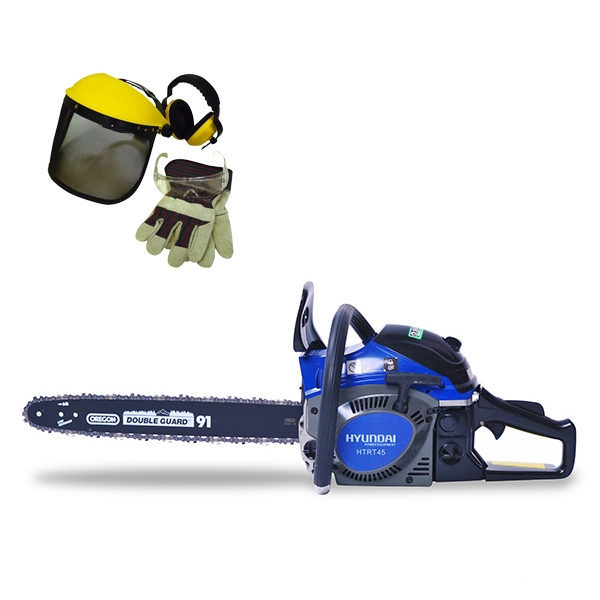 Petrol chainsaw 46 cm³ 40 cm - Guide and chain OREGON - recoil start  HTR44ACC - SWAP-europe.com