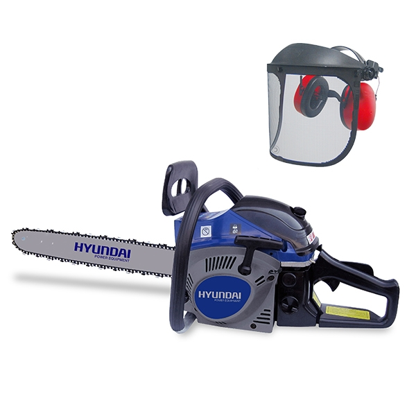 Petrol chainsaw 52 cm³ 50 cm - Guide and chain Hyundai 0.325 - recoil start  HTRPRO52VC-1 - SWAP-europe.com