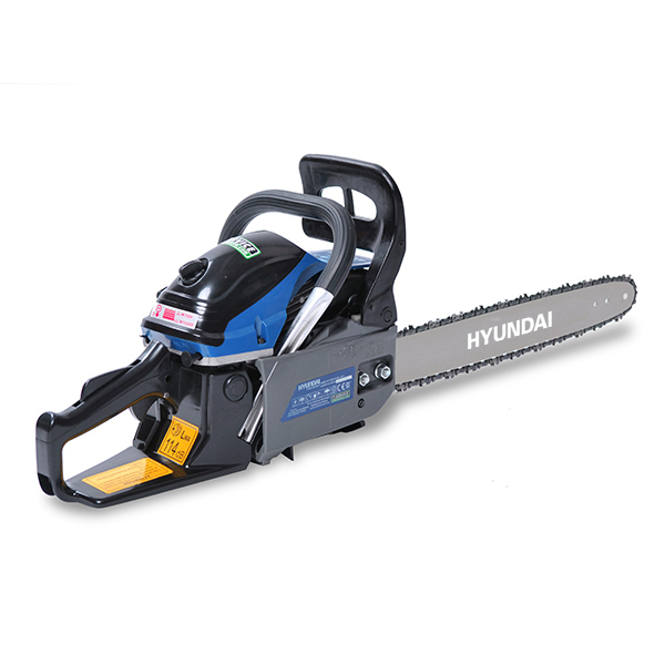 Petrol chainsaw 53 cm³ 55 cm - Guide and chain Hyundai 0.325 - recoil start  HTRT5350-1 - SWAP-europe.com
