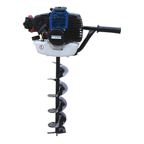 Petrol earth auger 52 cm³ 150 mm - 2-stroke motor - Automatic shut-off system HTT50-A - SWAP-europe.com