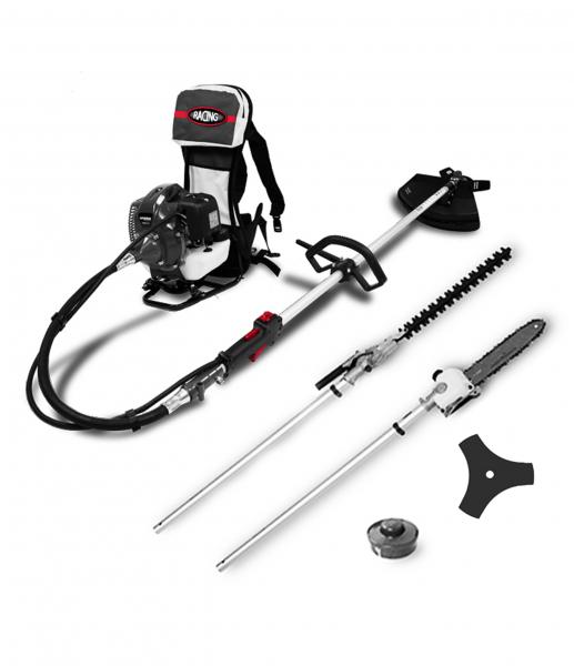 Petrol backpack multi-tool 52 cm³ - 4 in 1 RAC52CDORG - SWAP-europe.com