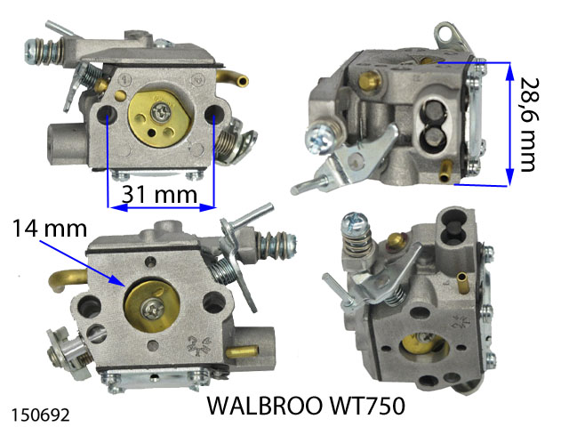 CARBURATEUR WALBRO WT 750 150692 Spare part SWAP-europe.com
