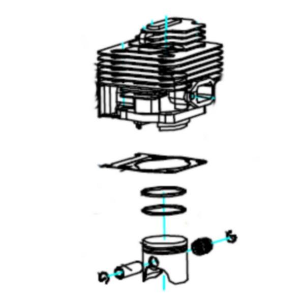 Kit cylindre piston 16250003 Pièce détachée SWAP-europe.com