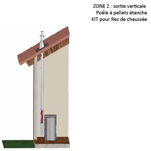 Kit fumisterie conduit concentrique noir 100/150 création de conduit ZONE 2 Rez de Chaussée 20266063 Pièce détachée SWAP-europe.com