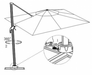 Alum roma parasol 3x3m BCU-0091 Ecru SWAP-europe.com