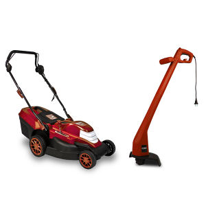 Electric  Lawn mower 1200W + Trimmer 250W EEMT1 SWAP-europe.com