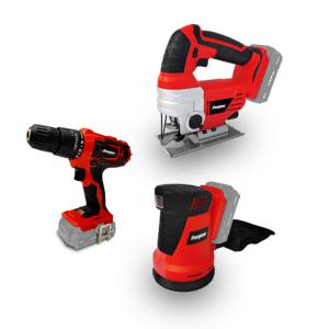 Set of 3 powertools 18v - Drill-Jig Saw - Eccentric Sander EZPACK9 SWAP-europe.com