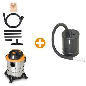 Pack aspirateur eau et poussière + vide cendre 1250 W 20 L FHA1250VC SWAP-europe.com