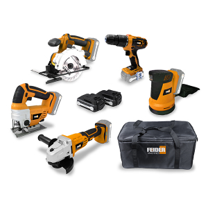 Pack d'outils 18 V 2 & 4 Ah FPACK18524 SWAP-europe.com