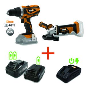 Pack d'outils 20 V 2 et 4 Ah FPV20V2B2C SWAP-europe.com