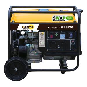 Open frame petrol generator G3600R SWAP-europe.com