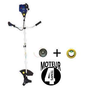 Petrol brushcutter 31 cm³ - 4-stroke engine 1,09 hp - Harness HDB4T-12 SWAP-europe.com