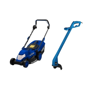 Electric lawn mower 1600 W 38 cm 40 L + 250 W Grass Trimmer HTDE1625 SWAP-europe.com