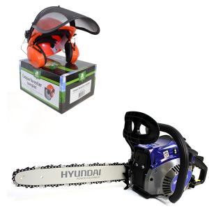 Petrol chainsaw 40 cm³ 40 cm - Guide and chain Hyundai - recoil start  HTR40CF SWAP-europe.com