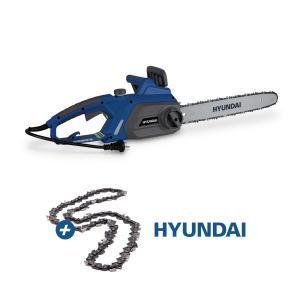 Tronçonneuse électrique 2200 W - Guide et chaîne Hyundai - Graissage de chaine automatique HTRE2241 SWAP-europe.com