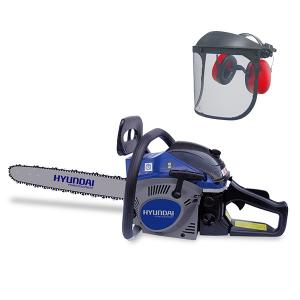 Petrol chainsaw 52 cm³ 50 cm - Guide and chain Hyundai 0.325 - recoil start  HTRPRO52VC-1 SWAP-europe.com