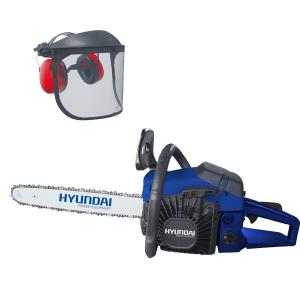 Petrol chainsaw 52 cm³ 50 cm - Guide and chain Hyundai HTRPRO52VC SWAP-europe.com