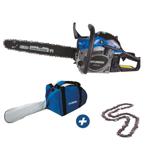 Petrol chainsaw 41 cm³ 40 cm - Guide and chain OREGON - recoil start  HTRT42 SWAP-europe.com