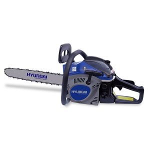 Petrol chainsaw 53 cm³ 45 cm - Guide and chain Hyundai - electronic start  HTRT5345 SWAP-europe.com