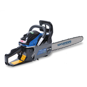 Petrol chainsaw 53 cm³ 55 cm - Guide and chain Hyundai 0.325 - recoil start  HTRT5350-1 SWAP-europe.com