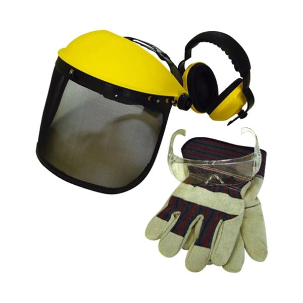 Kit protections : Visière grillagé - Paire de lunettes - Casque antibruit - Gants 17263005 Spare part SWAP-europe.com