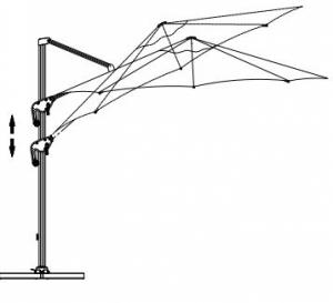 parasol suspendu mimi roma 3m SPH-00029C  Blue SWAP-europe.com