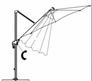 parasol suspendu mimi roma 3m SPH-00029C  Grey SWAP-europe.com