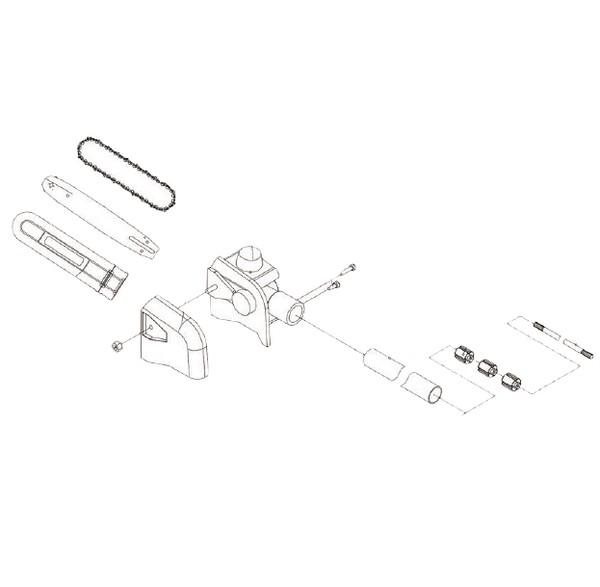 Accessoire élagueuse complet 17024012 Spare part SWAP-europe.com